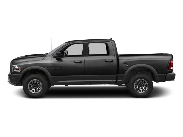 Brilliant Black Crystal Pearlcoat 2016 Ram Truck 1500 Pictures 1500 Crew Cab Rebel 4WD photos side view