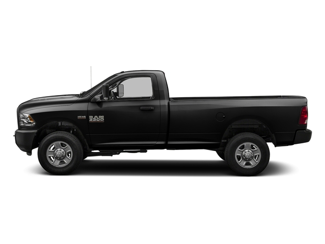 Brilliant Black Crystal Pearlcoat 2016 Ram Truck 3500 Pictures 3500 Regular Cab SLT 2WD photos side view