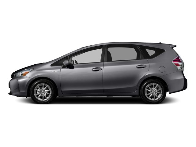 Magnetic Gray Metallic 2016 Toyota Prius v Pictures Prius v Liftback 5D v I4 Hybrid photos side view