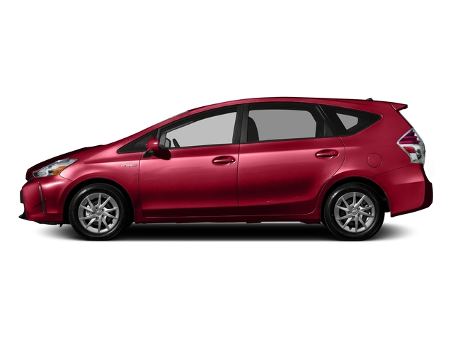 Absolutely Red 2016 Toyota Prius v Pictures Prius v Liftback 5D v I4 Hybrid photos side view