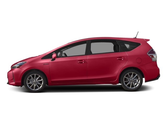 Absolutely Red 2016 Toyota Prius v Pictures Prius v Liftback 5D v Five I4 Hybrid photos side view