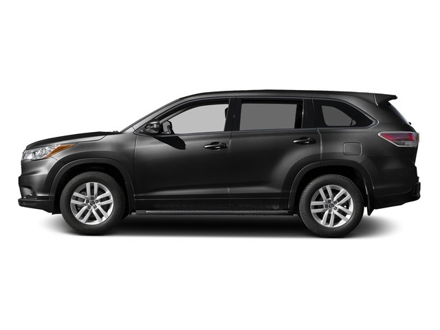 Midnight Black Metallic 2016 Toyota Highlander Pictures Highlander Utility 4D LE 2WD I4 photos side view