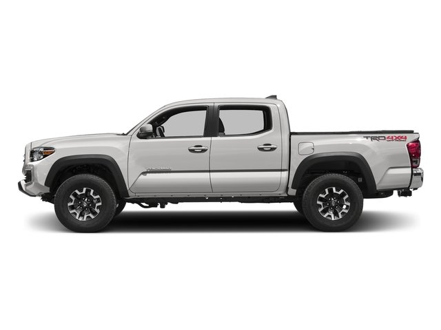 Super White 2016 Toyota Tacoma Pictures Tacoma TRD Off-Road Crew Cab 2WD V6 photos side view