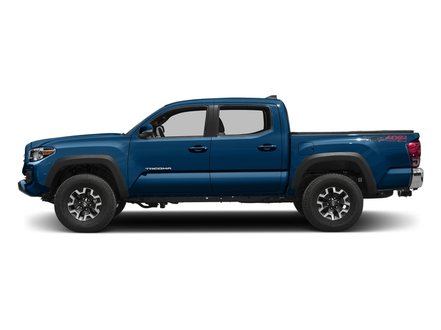 Blazing Blue Pearl 2016 Toyota Tacoma Pictures Tacoma TRD Off-Road Crew Cab 2WD V6 photos side view