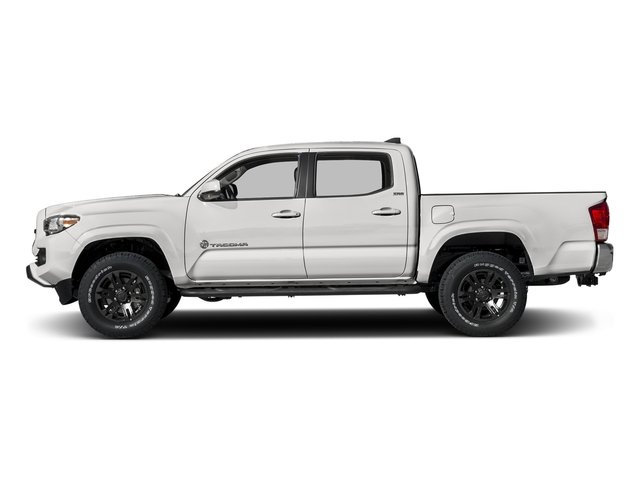 Super White 2016 Toyota Tacoma Pictures Tacoma SR5 Crew Cab 4WD V6 photos side view