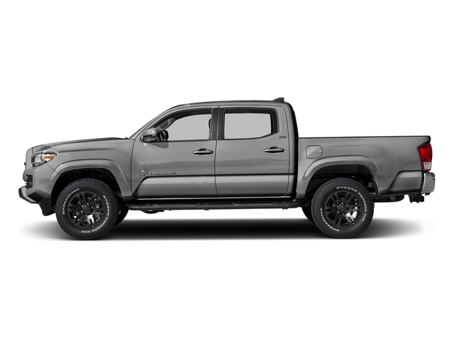 Silver Sky Metallic 2016 Toyota Tacoma Pictures Tacoma SR5 Crew Cab 4WD V6 photos side view