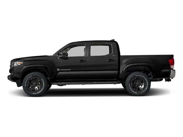 Black 2016 Toyota Tacoma Pictures Tacoma SR5 Crew Cab 4WD V6 photos side view