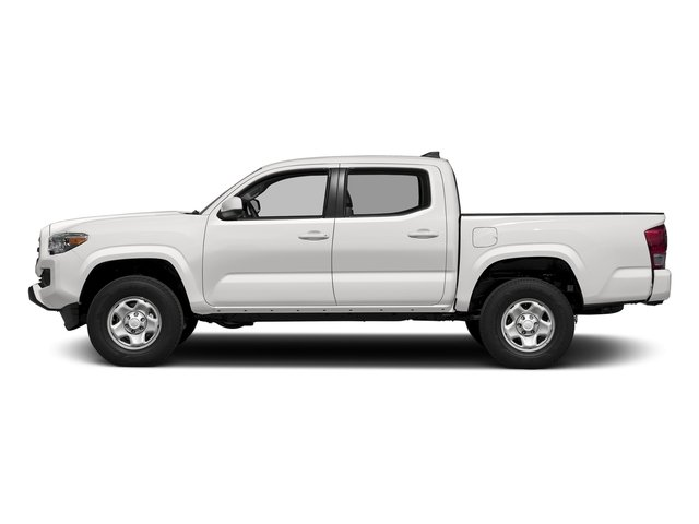 Super White 2016 Toyota Tacoma Pictures Tacoma SR Crew Cab 4WD V6 photos side view
