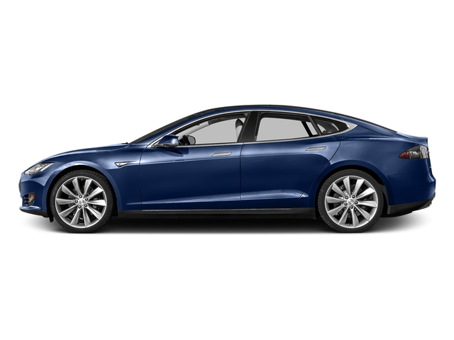 Deep Blue Metallic 2016 Tesla Motors Model S Pictures Model S Sed 4D D Performance 90 kWh AWD Elec photos side view