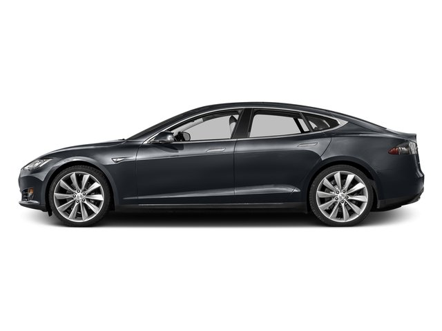Midnight Silver Metallic 2016 Tesla Motors Model S Pictures Model S Sed 4D D Performance 90 kWh AWD Elec photos side view
