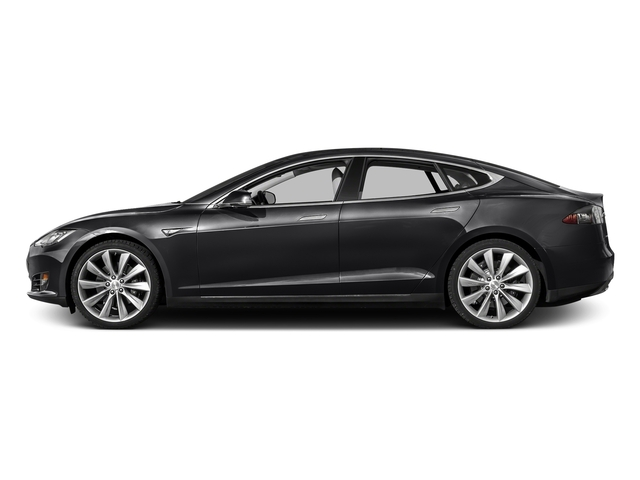 Solid Black 2016 Tesla Motors Model S Pictures Model S Sed 4D D Performance 90 kWh AWD Elec photos side view