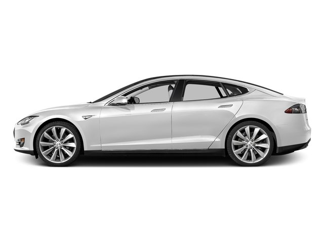 Solid White 2016 Tesla Motors Model S Pictures Model S Sed 4D D Performance 90 kWh AWD Elec photos side view