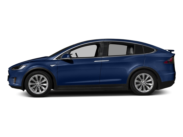 Deep Blue Metallic 2016 Tesla Motors Model X Pictures Model X Utility 4D Performance AWD photos side view