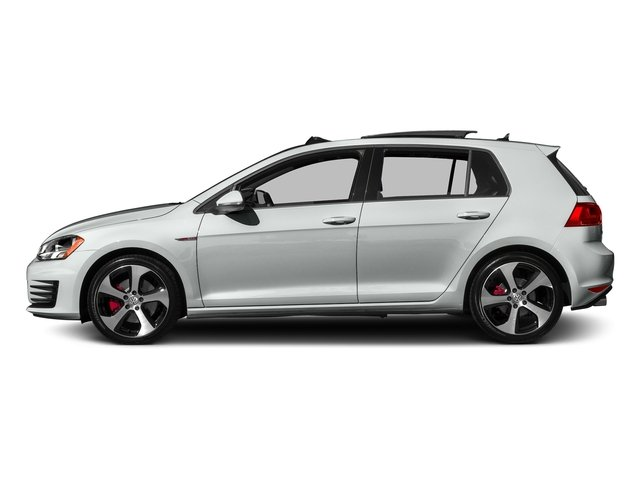 Pure White 2016 Volkswagen Golf GTI Pictures Golf GTI Hatchback 4D S I4 Turbo photos side view