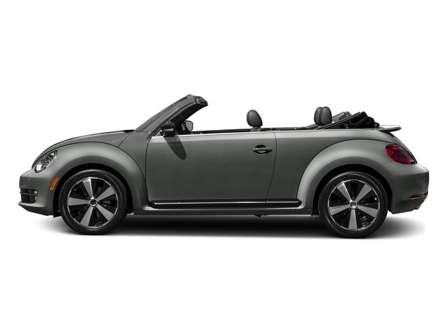 Platinum Gray Metallic/Black Roof 2016 Volkswagen Beetle Convertible Pictures Beetle Convertible Convertible 2D SEL I4 Turbo photos side view