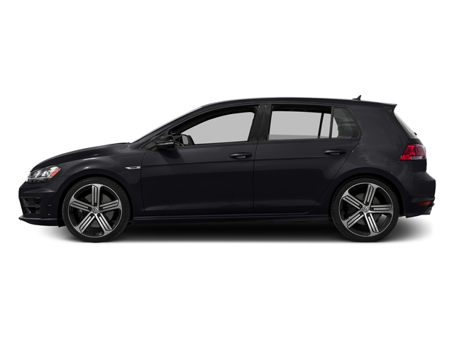 Deep Black Pearl 2016 Volkswagen Golf R Pictures Golf R Hatchback 4D R AWD I4 Turbo photos side view