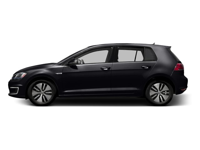 Deep Black Pearl 2016 Volkswagen e-Golf Pictures e-Golf Hatchback 4D e-Golf SEL Electric photos side view