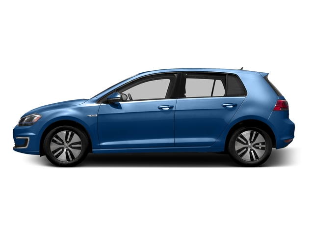 Pacific Blue 2016 Volkswagen e-Golf Pictures e-Golf Hatchback 4D e-Golf SEL Electric photos side view