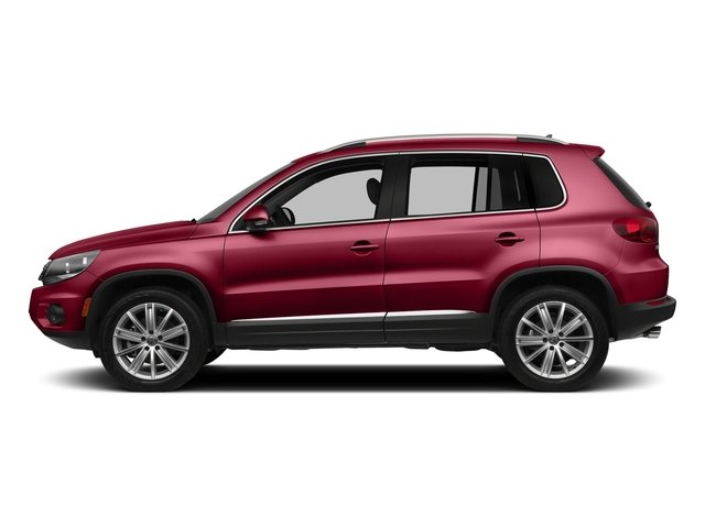 Wild Cherry Metallic 2016 Volkswagen Tiguan Pictures Tiguan Utility 4D SE 2WD I4 Turbo photos side view