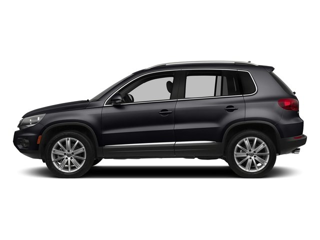 Deep Black Pearl 2016 Volkswagen Tiguan Pictures Tiguan Utility 4D SE 2WD I4 Turbo photos side view