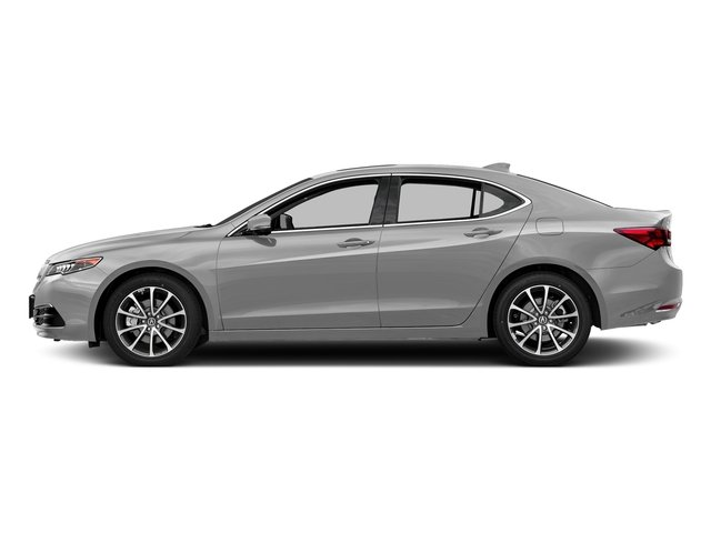 Lunar Silver Metallic 2017 Acura TLX Pictures TLX Sedan 4D Technology V6 photos side view
