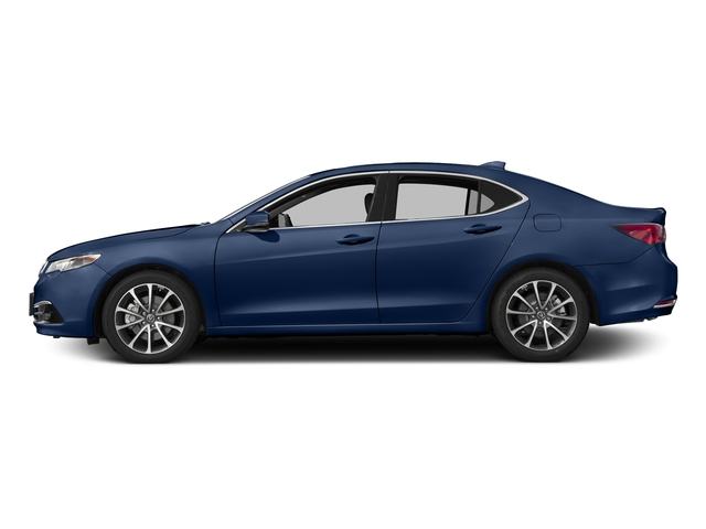 Fathom Blue Pearl 2017 Acura TLX Pictures TLX Sedan 4D Advance AWD V6 photos side view