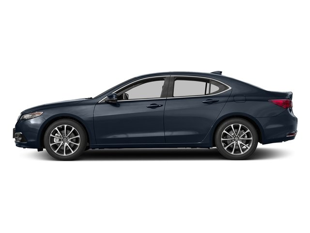 Fathom Blue Pearl 2017 Acura TLX Pictures TLX Sedan 4D Advance V6 photos side view