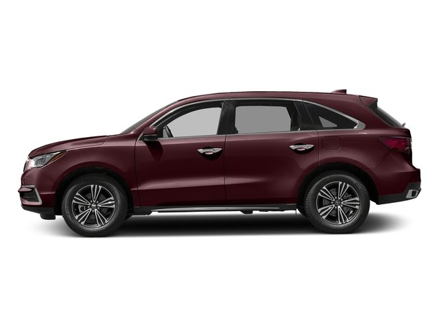 Dark Cherry Pearl 2017 Acura MDX Pictures MDX Utility 4D AWD V6 photos side view