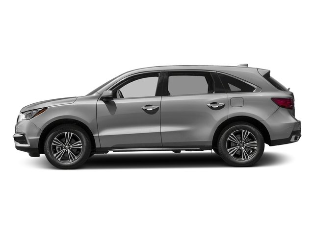 Lunar Silver Metallic 2017 Acura MDX Pictures MDX Utility 4D AWD V6 photos side view