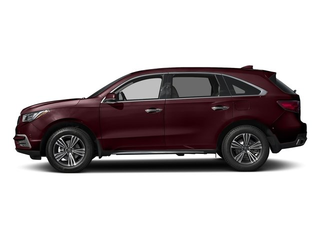 Dark Cherry Pearl 2017 Acura MDX Pictures MDX Utility 4D 2WD V6 photos side view