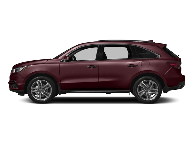 Dark Cherry Pearl 2017 Acura MDX Pictures MDX Utility 4D Advance 2WD V6 photos side view