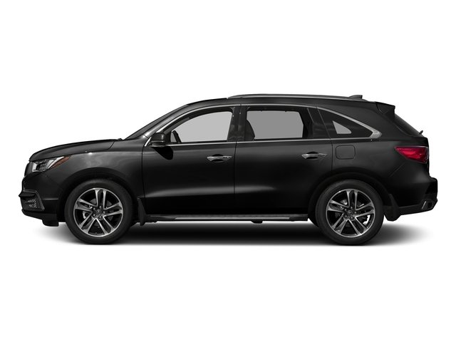 Crystal Black Pearl 2017 Acura MDX Pictures MDX Utility 4D Advance AWD V6 photos side view
