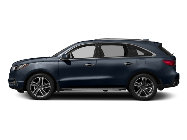 Fathom Blue Pearl 2017 Acura MDX Pictures MDX SH-AWD w/Advance Pkg photos side view