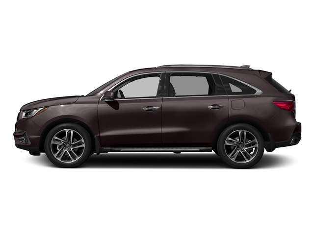 Black Copper Pearl 2017 Acura MDX Pictures MDX Utility 4D Advance AWD V6 photos side view