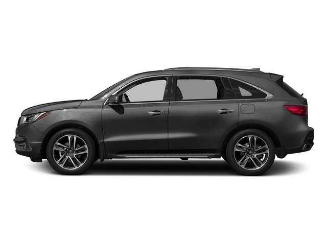 Modern Steel Metallic 2017 Acura MDX Pictures MDX Utility 4D Advance AWD V6 photos side view