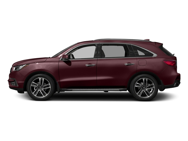 Dark Cherry Pearl 2017 Acura MDX Pictures MDX Utility 4D Advance AWD V6 photos side view