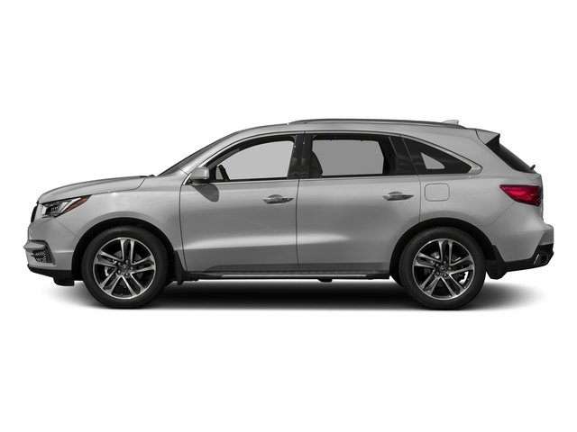 Lunar Silver Metallic 2017 Acura MDX Pictures MDX Utility 4D Advance AWD V6 photos side view