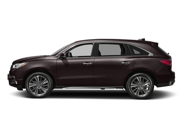 Black Copper Pearl 2017 Acura MDX Pictures MDX FWD w/Technology Pkg photos side view