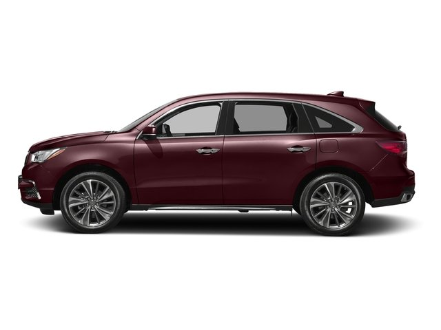 Dark Cherry Pearl 2017 Acura MDX Pictures MDX FWD w/Technology Pkg photos side view