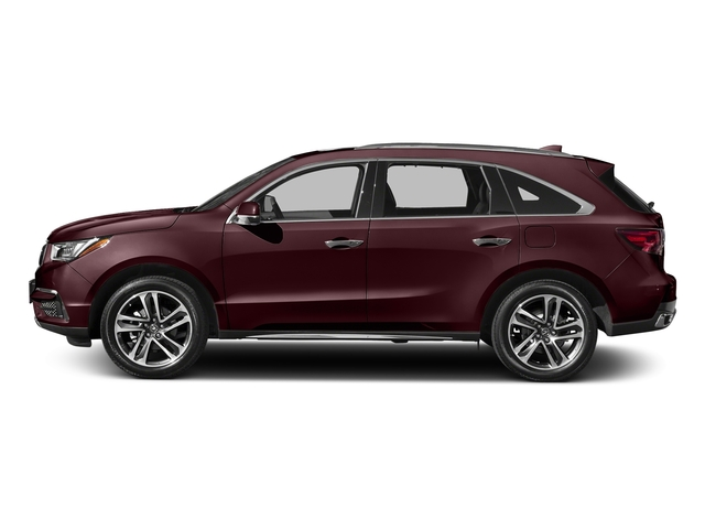 Dark Cherry Pearl 2017 Acura MDX Pictures MDX Utility 4D Advance DVD 2WD V6 photos side view