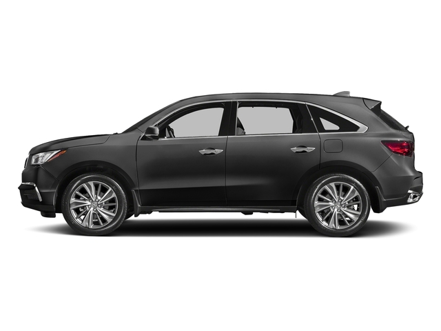 Modern Steel Metallic 2017 Acura MDX Pictures MDX Utility 4D Technology DVD 2WD V6 photos side view