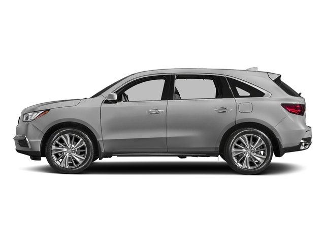 Lunar Silver Metallic 2017 Acura MDX Pictures MDX Utility 4D Technology DVD 2WD V6 photos side view