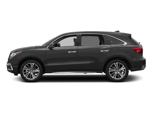 Modern Steel Metallic 2017 Acura MDX Pictures MDX Utility 4D Technology DVD AWD V6 photos side view