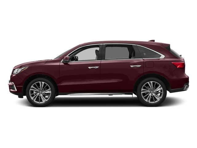 Dark Cherry Pearl 2017 Acura MDX Pictures MDX Utility 4D Technology DVD AWD V6 photos side view