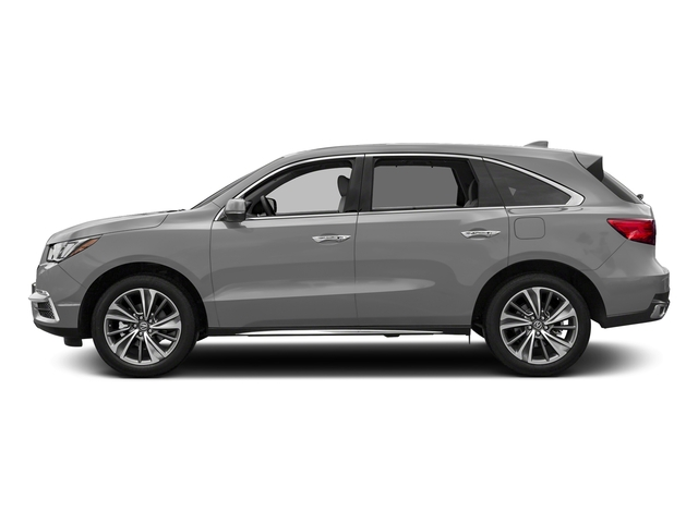 Lunar Silver Metallic 2017 Acura MDX Pictures MDX Utility 4D Technology DVD AWD V6 photos side view