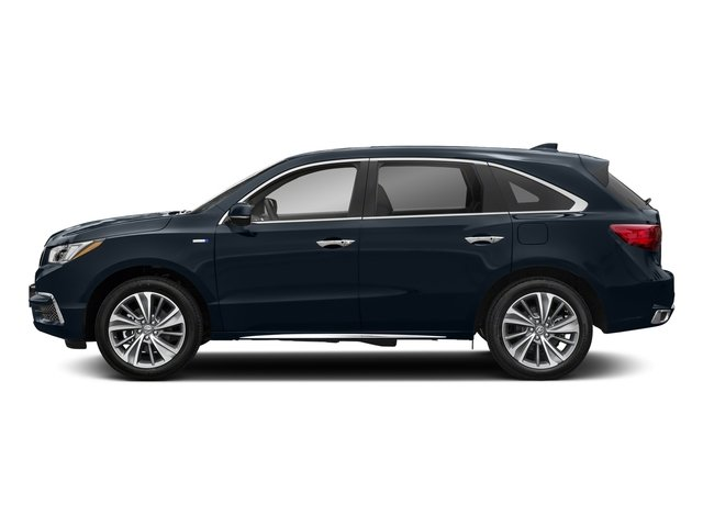 Fathom Blue Pearl 2017 Acura MDX Pictures MDX Utility 4D Technology AWD Hybrid photos side view