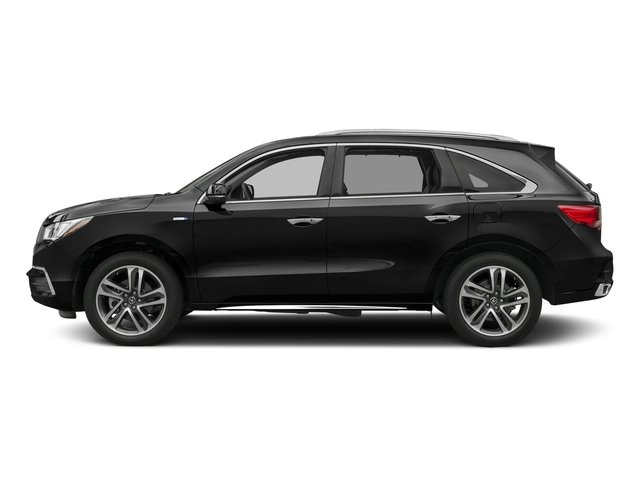 Crystal Black Pearl 2017 Acura MDX Pictures MDX SH-AWD Sport Hybrid w/Advance Pkg photos side view