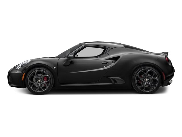 Black 2017 Alfa Romeo 4C Coupe Pictures 4C Coupe photos side view