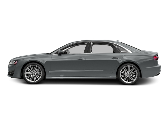 Monsoon Gray Metallic 2017 Audi A8 L Pictures A8 L 4.0 TFSI Sport photos side view