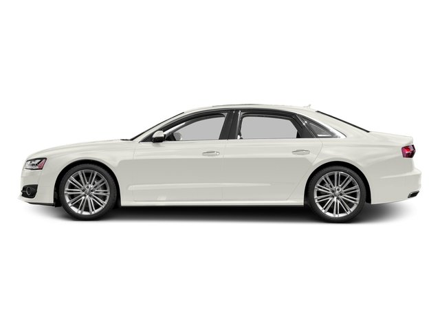 Ibis White 2017 Audi A8 L Pictures A8 L 4.0 TFSI Sport photos side view